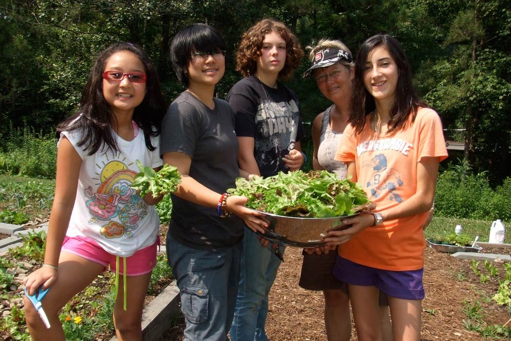 art camp garden greens