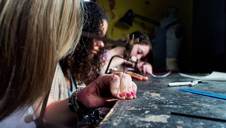 copper work at art camp