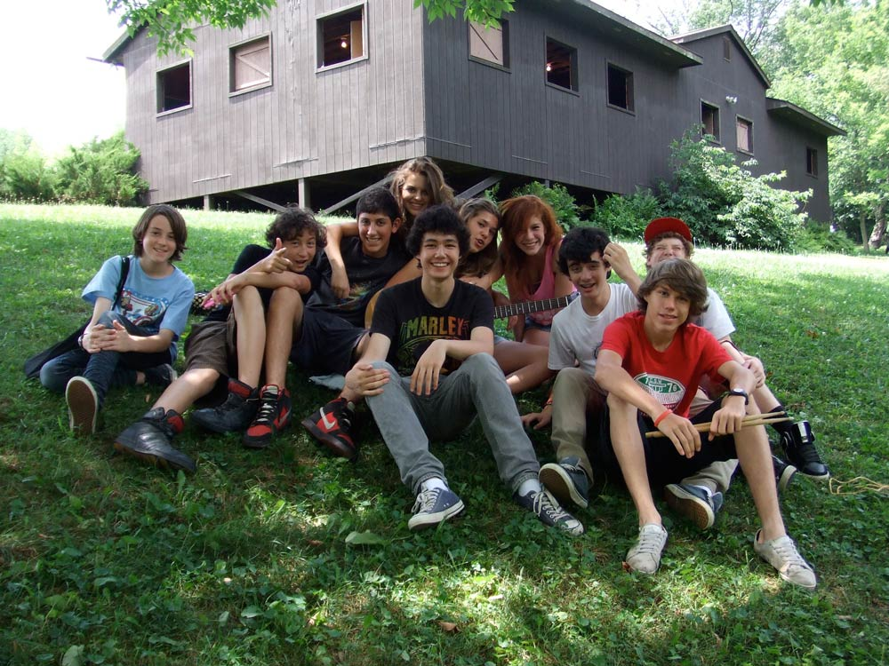 friends at a camp