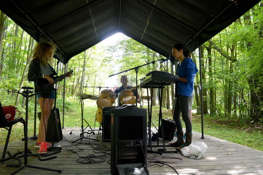 rock camp band outside