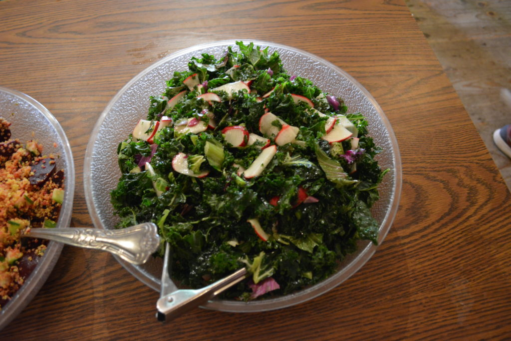 healthy salad at art camp