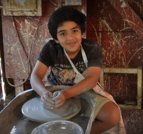 art camp pottery