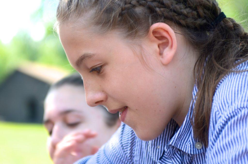 young girl at art camp